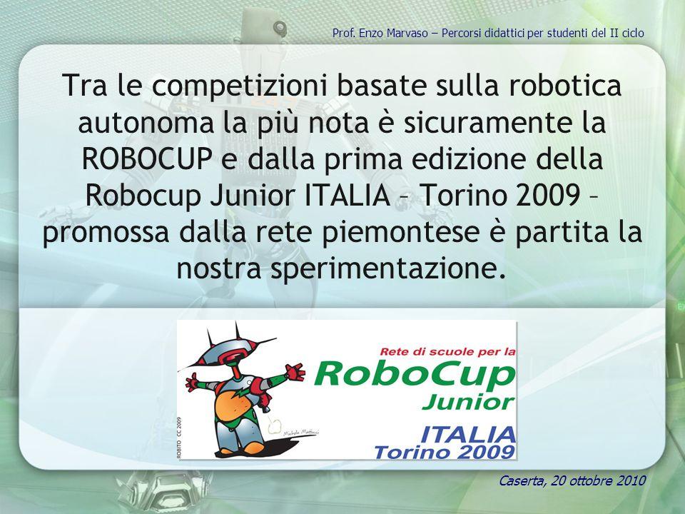 Tra le competizioni basate sulla robotica autonoma la più nota è sicuramente la ROBOCUP e dalla prima edizione della Robocup Junior ITALIA – Torino 20