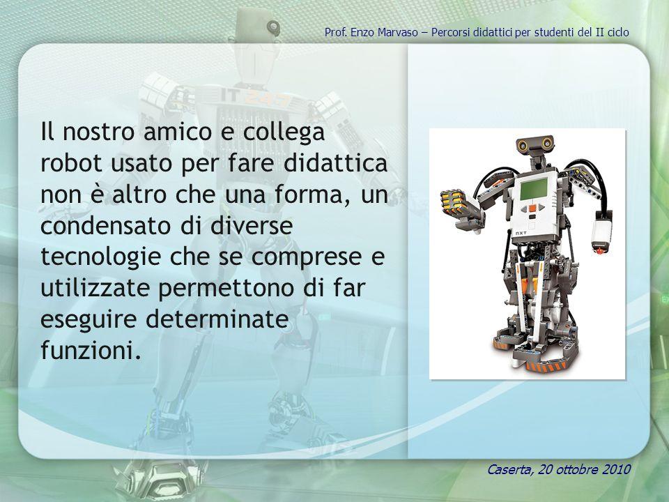 Il nostro amico e collega robot usato per fare didattica non è altro che una forma, un condensato di diverse tecnologie che se comprese e utilizzate permettono di far eseguire determinate funzioni.