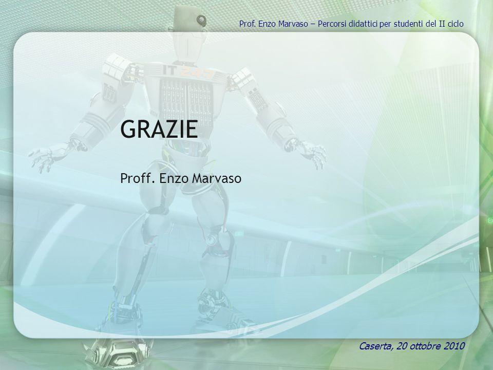 Prof. Enzo Marvaso – Percorsi didattici per studenti del II ciclo GRAZIE Proff. Enzo Marvaso Caserta, 20 ottobre 2010