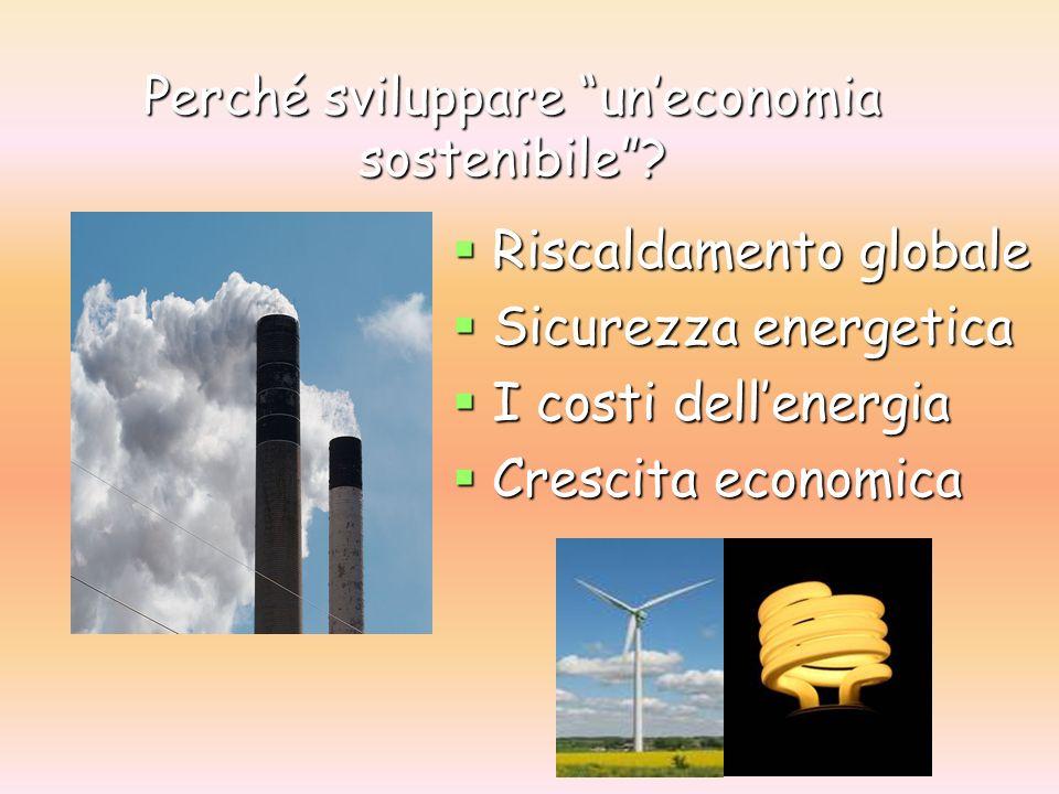 Perché sviluppare uneconomia sostenibile.
