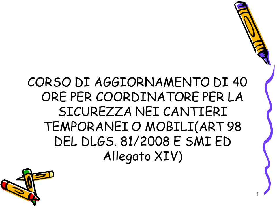 102 Art.151 – Sicurezza nei cantieri (art. 127 D.P.R.