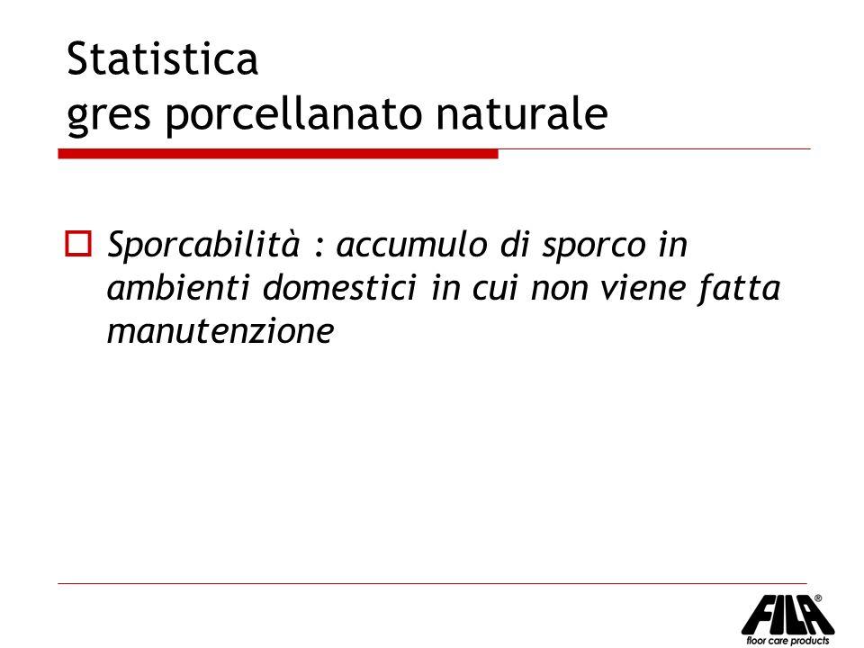 Statistica gres porcellanato naturale Sporcabilità : accumulo di sporco in ambienti domestici in cui non viene fatta manutenzione