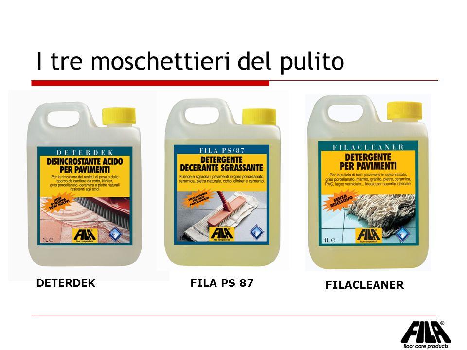 I tre moschettieri del pulito DETERDEK FILA PS 87 FILACLEANER