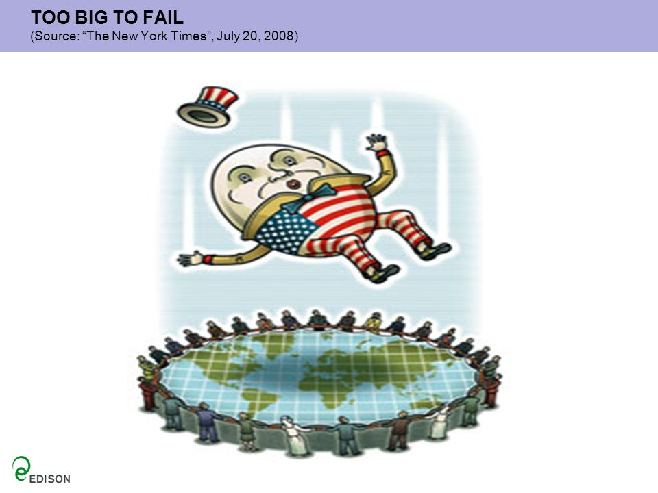 TOO BIG TO FAIL (Source: The New York Times, July 20, 2008)