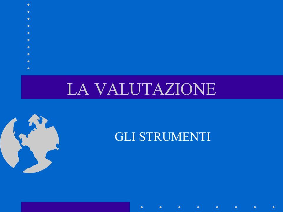 Qualità degli strumenti di valutazione validità misura quello che deve misurare oggettività concordanza di giudizio tra esaminatori diversi fedeltà costanza di misurazione pertinenza rispetto dei criteri