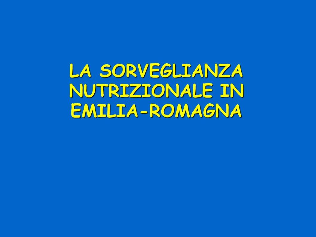 LA SORVEGLIANZA NUTRIZIONALE IN EMILIA-ROMAGNA