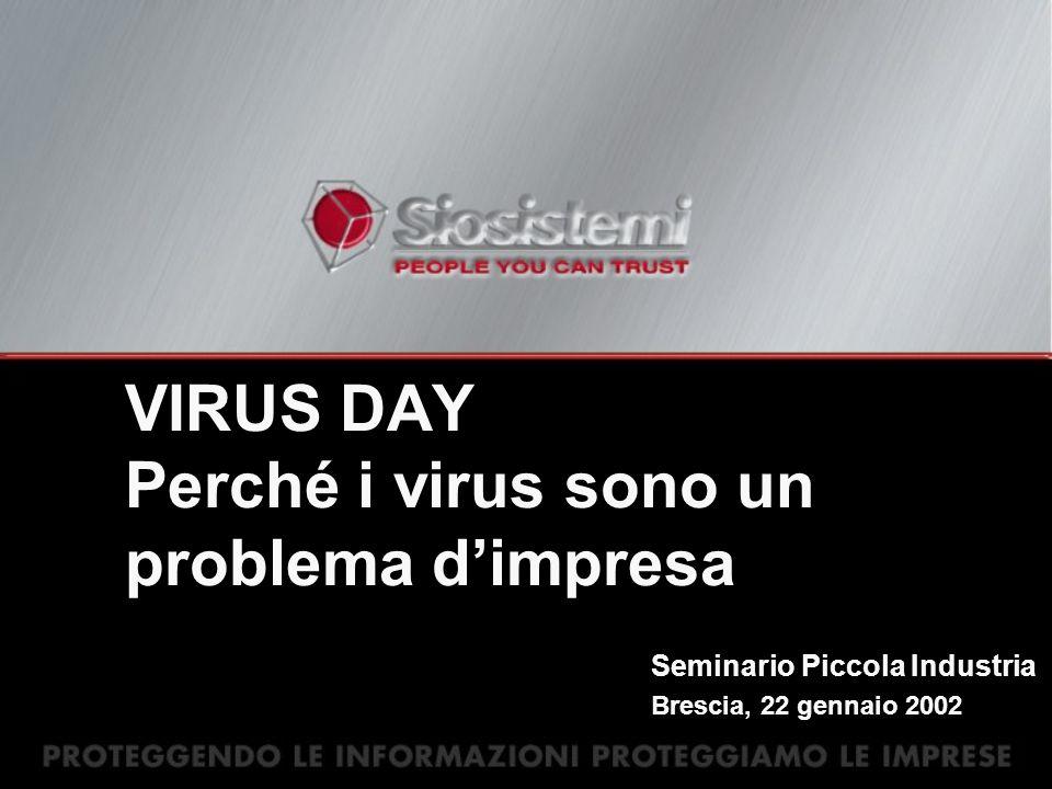 VIRUS DAY Perché i virus sono un problema dimpresa Seminario Piccola Industria Brescia, 22 gennaio 2002