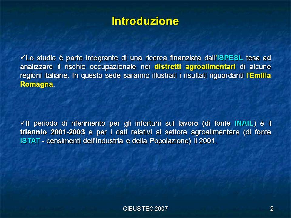 CIBUS TEC 20073 Premessa Il miglioramento delle condizioni di lavoro rientra tra gli obiettivi di sostenibilità previsti dalle strategie UE per lo sviluppo nelleconomia della conoscenza (strategia di Lisbona).