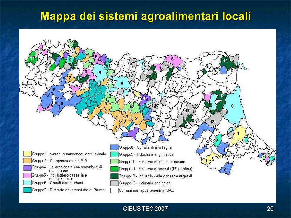 CIBUS TEC 200720 Mappa dei sistemi agroalimentari locali