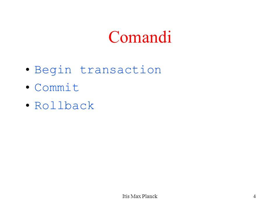 5 Continua Solo quando la transazione termina con successo (committed transaction), la BD transita in un nuovo stato.