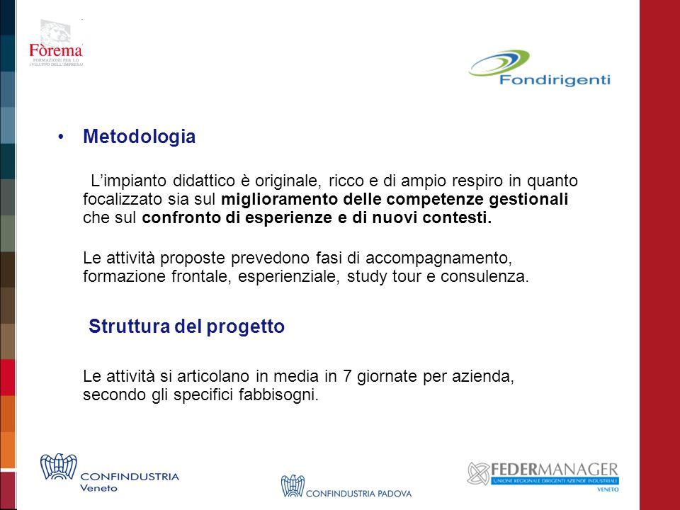 Metodologia Limpianto didattico è originale, ricco e di ampio respiro in quanto focalizzato sia sul miglioramento delle competenze gestionali che sul