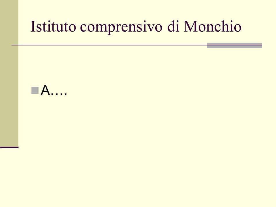 Istituto comprensivo di Monchio A….