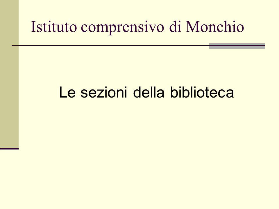 Istituto comprensivo di Monchio Le sezioni della biblioteca