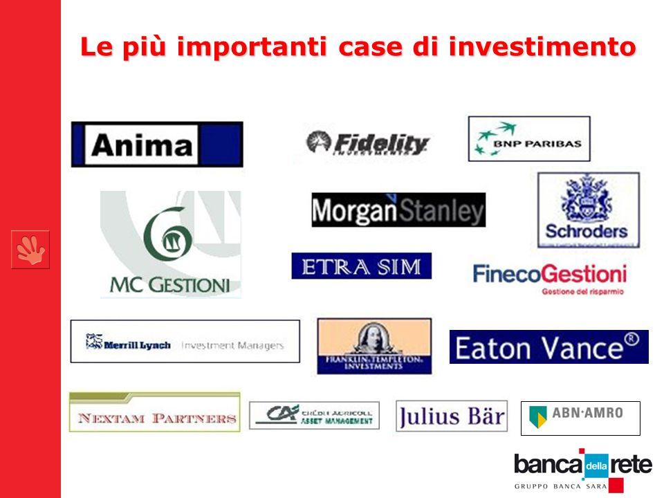 Le più importanti case di investimento