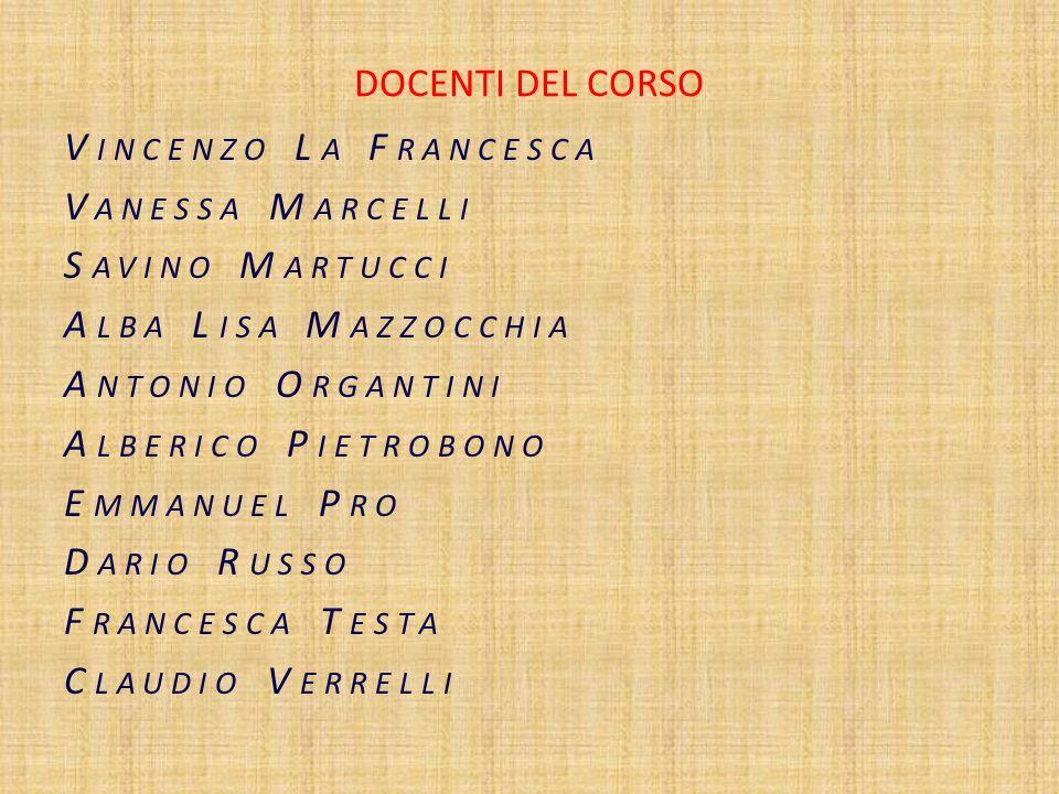 Il direttore del Corso Prof.ssa Marilena DAscoli