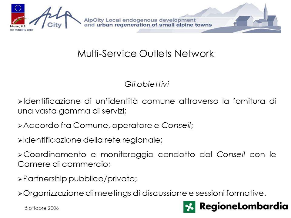 5 ottobre 2006 Identificazione di unidentità comune attraverso la fornitura di una vasta gamma di servizi; Accordo fra Comune, operatore e Conseil; Id