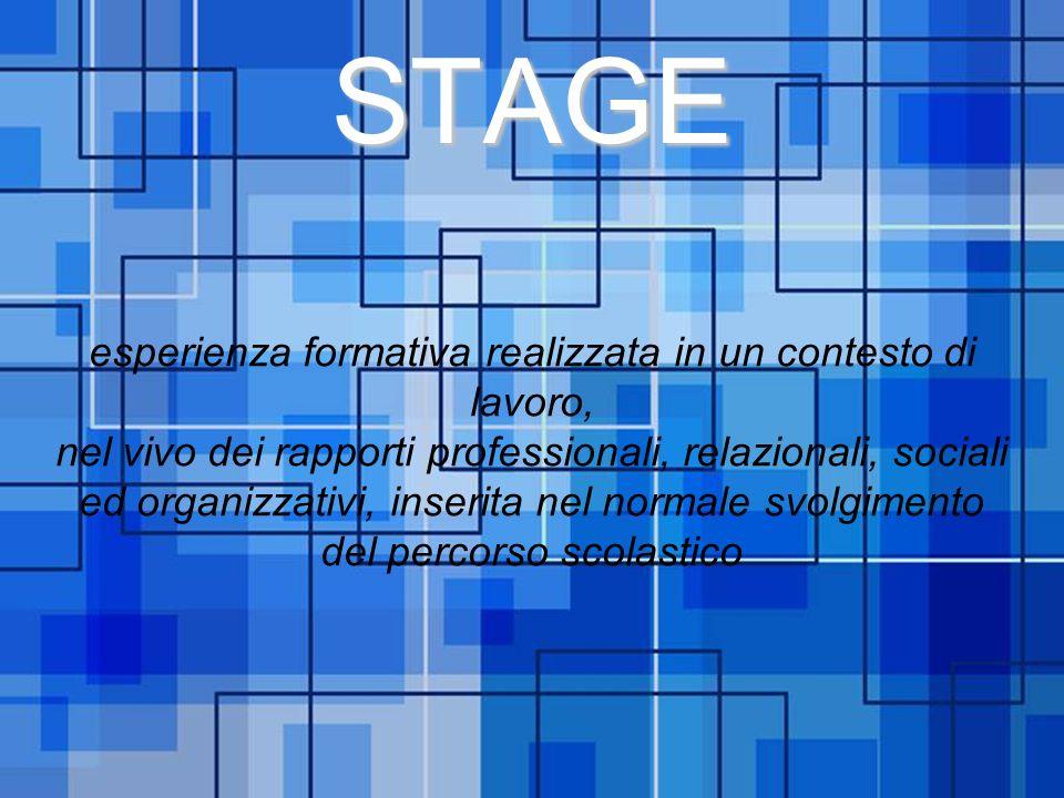 Powerpoint Templates Page 1 Powerpoint TemplatesSTAGE esperienza formativa realizzata in un contesto di lavoro, nel vivo dei rapporti professionali, r
