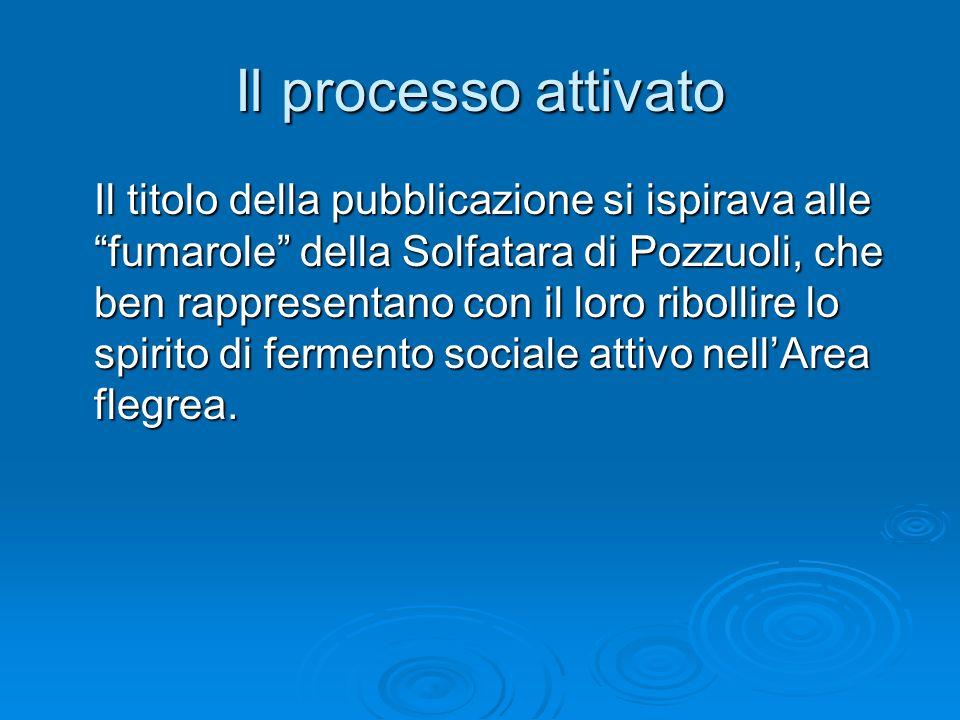 Il processo attivato Il titolo della pubblicazione si ispirava alle fumarole della Solfatara di Pozzuoli, che ben rappresentano con il loro ribollire lo spirito di fermento sociale attivo nellArea flegrea.