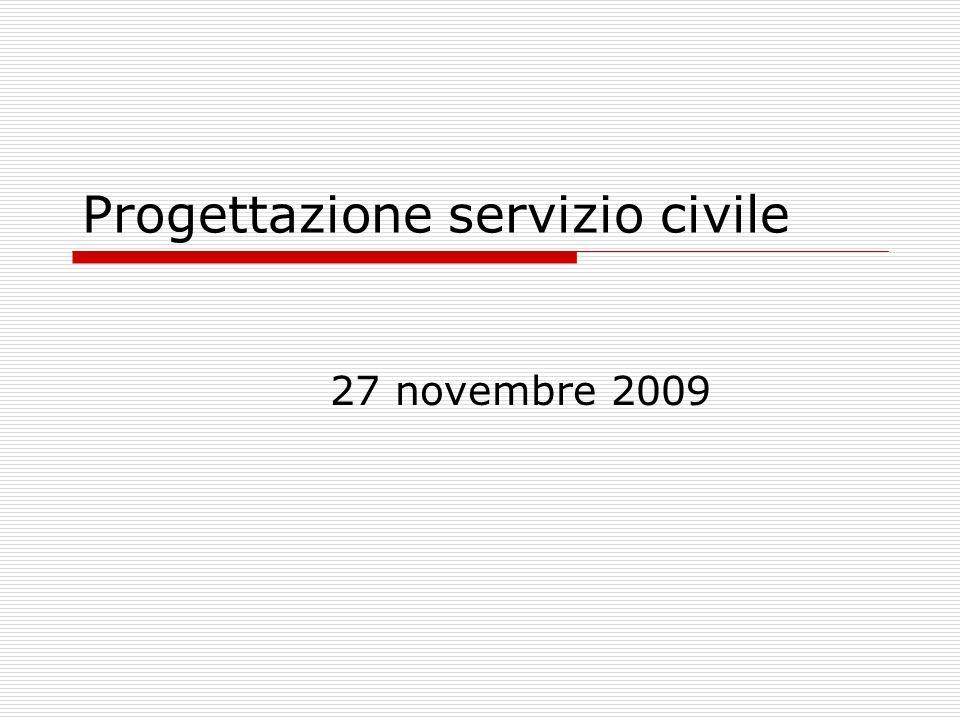 Progettazione servizio civile 27 novembre 2009