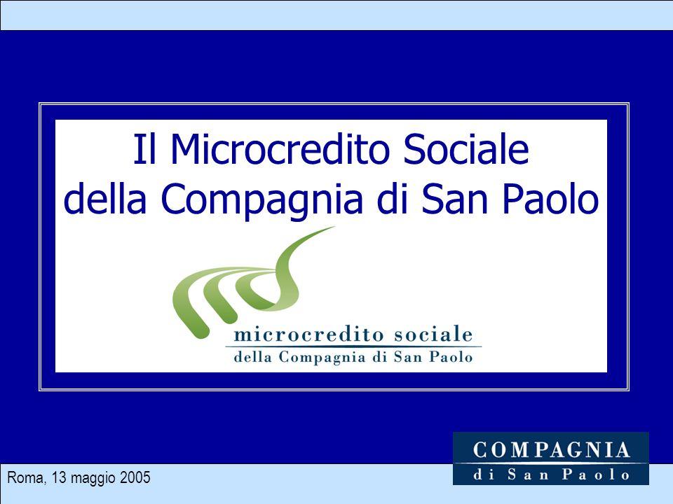 Roma, 13 maggio 2005 1 Il Microcredito Sociale della Compagnia di San Paolo