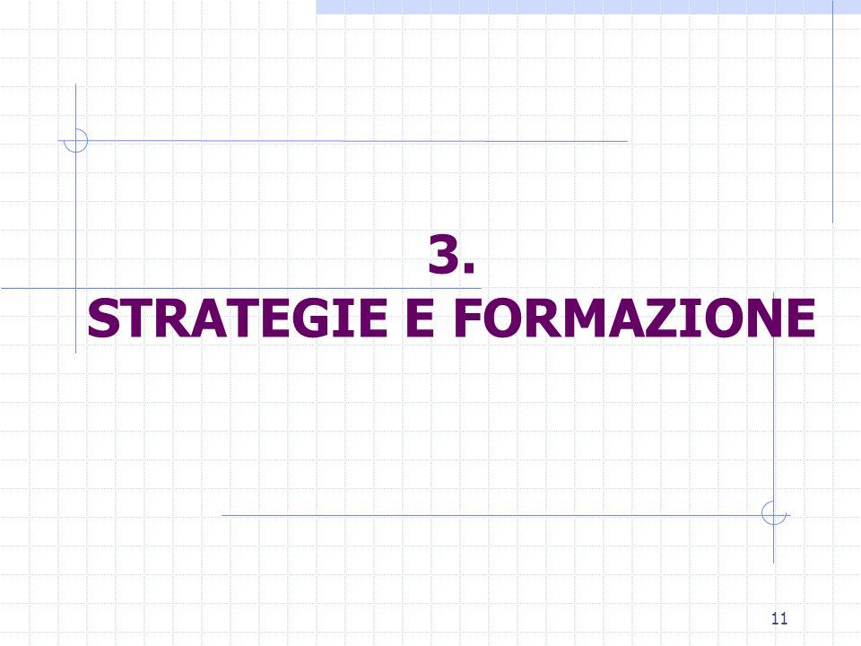 11 3. STRATEGIE E FORMAZIONE