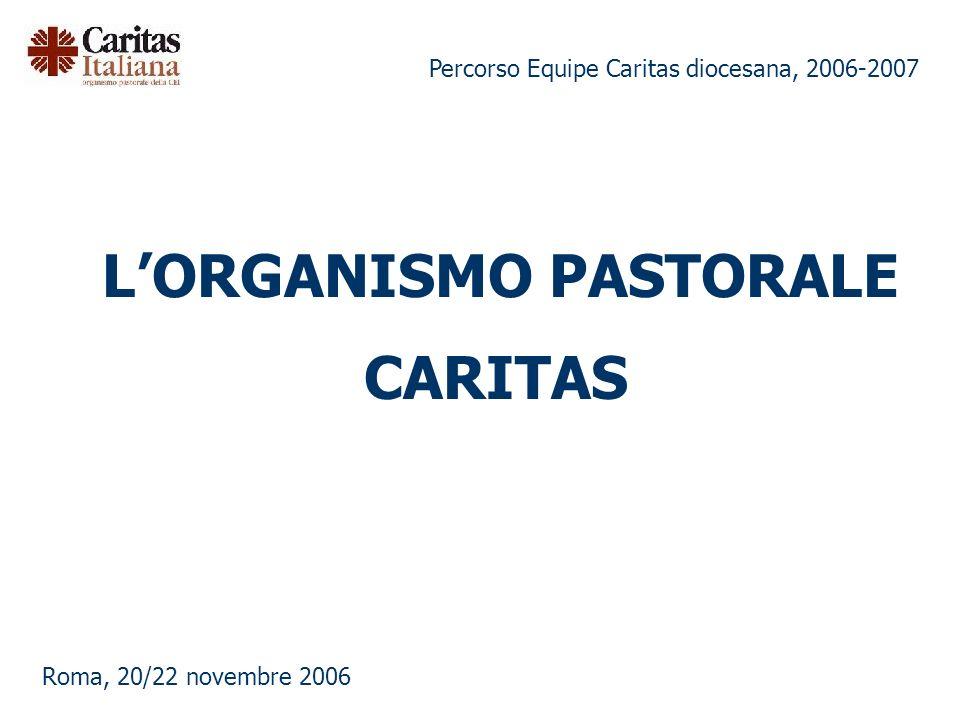 Percorso Equipe Caritas diocesana, 2006-2007 Roma, 20/22 novembre 2006 LORGANISMO PASTORALE CARITAS