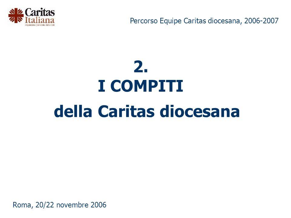 Percorso Equipe Caritas diocesana, 2006-2007 Roma, 20/22 novembre 2006 2.