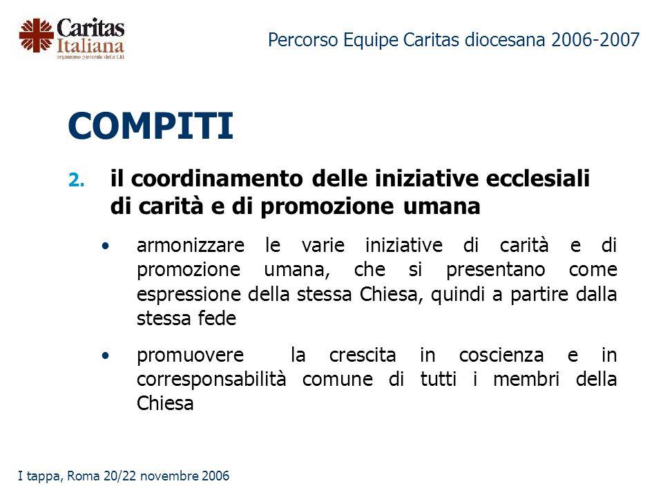 Percorso Equipe Caritas diocesana 2006-2007 I tappa, Roma 20/22 novembre 2006 2.