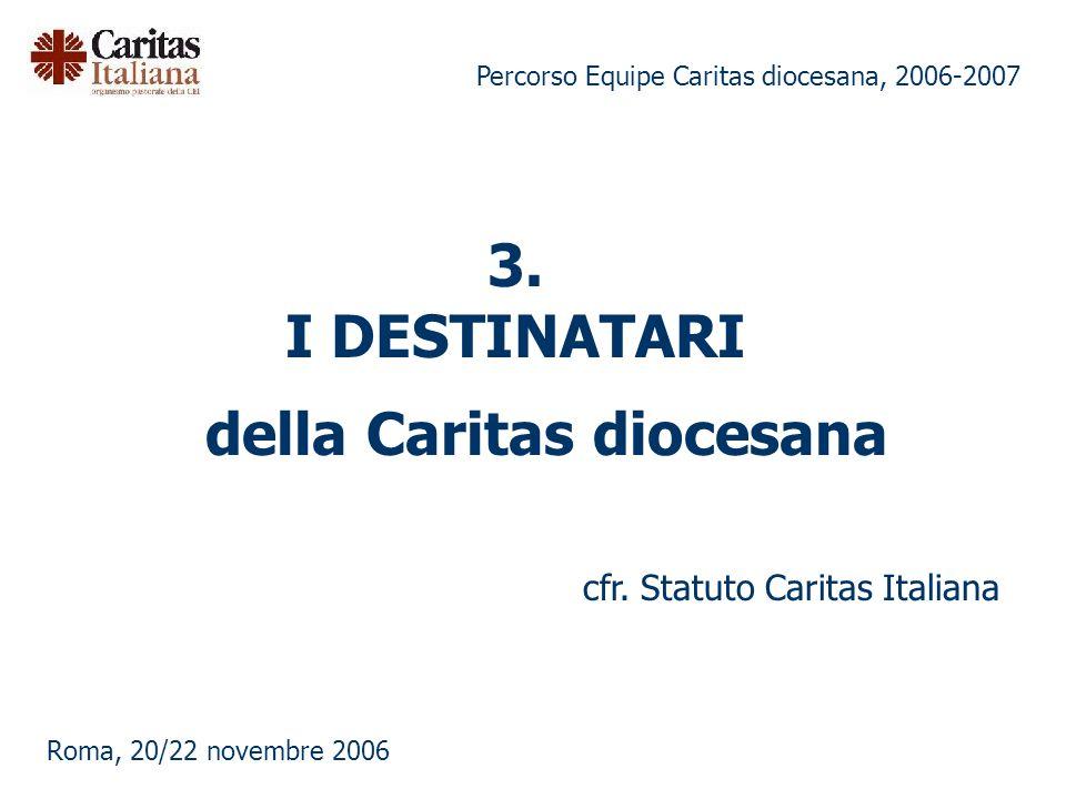 Percorso Equipe Caritas diocesana, 2006-2007 Roma, 20/22 novembre 2006 della Caritas diocesana cfr.