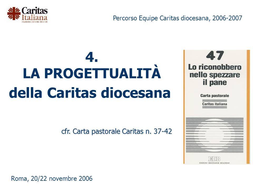 Percorso Equipe Caritas diocesana, 2006-2007 Roma, 20/22 novembre 2006 4.