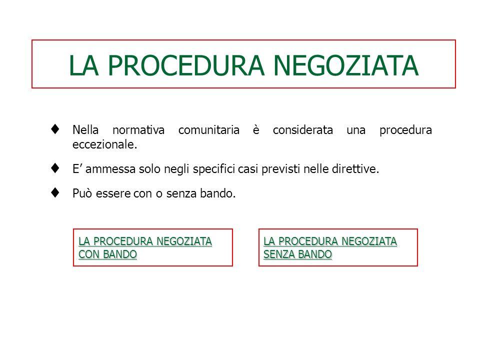 Procedure aperte sono le procedure nazionali in cui ogni imprenditore interessato può presentare un'offerta. Procedure ristrette sono le procedure naz