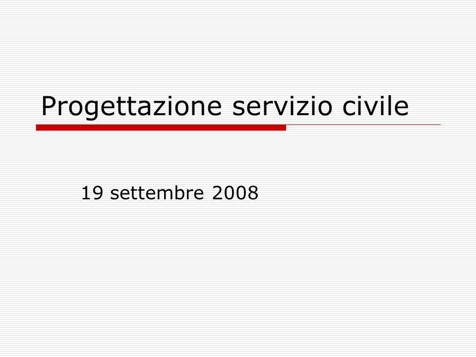 Progettazione servizio civile 19 settembre 2008