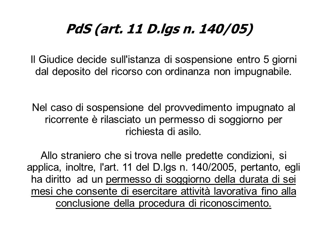 PdS (art. 11 D.lgs n.
