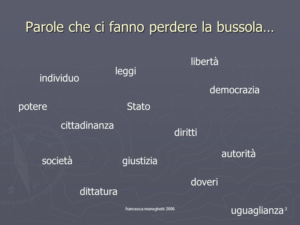 francesca meneghetti 200613 La dottrina liberale Alla base cè Locke (diritti naturali).