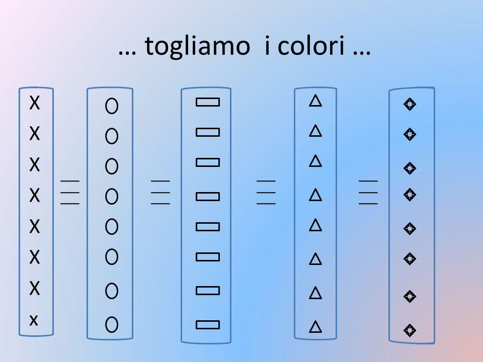 … togliamo i colori … X x