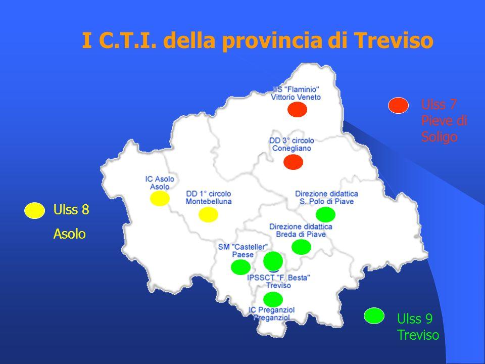 I C.T.I. della provincia di Treviso Ulss 8 Asolo Ulss 7 Pieve di Soligo Ulss 9 Treviso