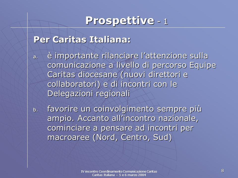 8 Prospettive - 1 Per Caritas Italiana: a.