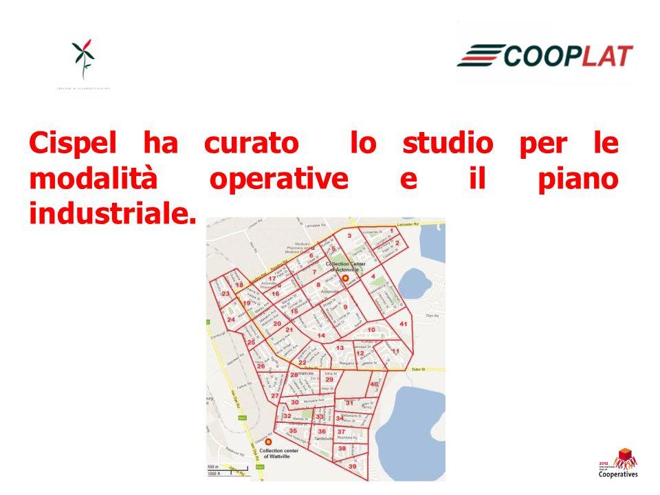 Cispel ha curato lo studio per le modalità operative e il piano industriale.