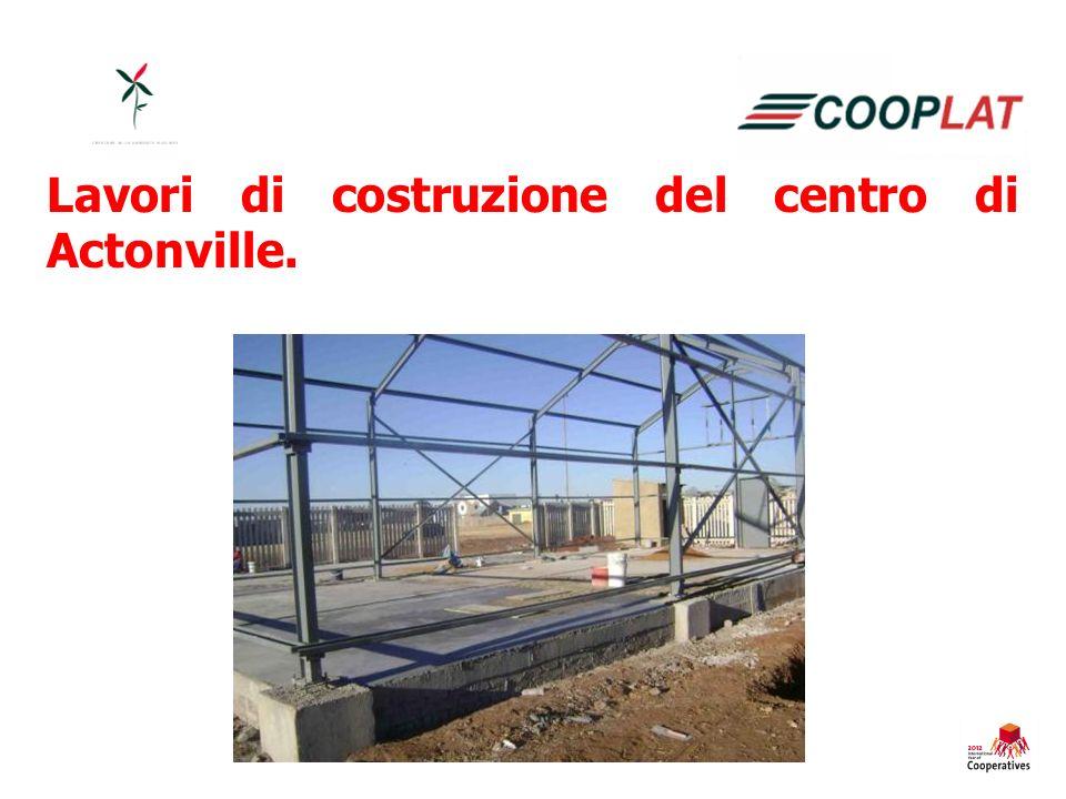 Lavori di costruzione del centro di Actonville.