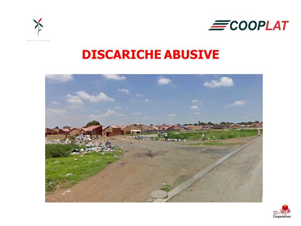 Cooperative già operanti in altre township senza alcuna formazione.