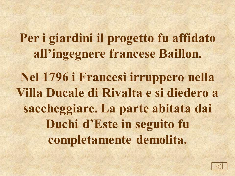 La Villa Ducale di Rivalta era la residenza di Francesco III dEste e Carlotta Aglae di Bourbon. Iniziata nel 1724 per volere di Carlotta, la Villa dov