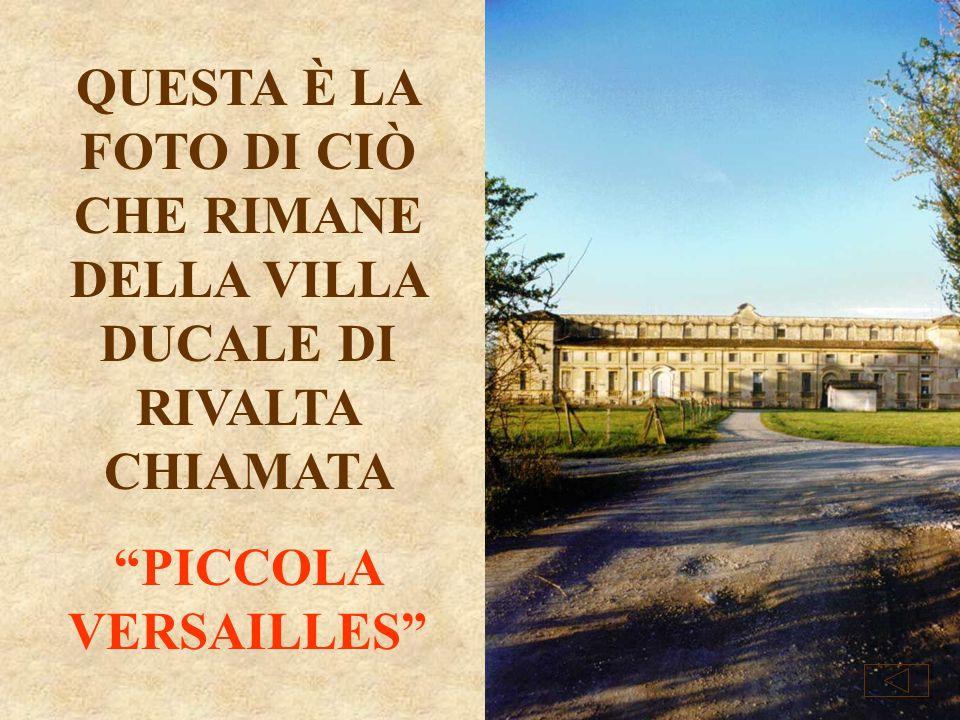 Per i giardini il progetto fu affidato allingegnere francese Baillon. Nel 1796 i Francesi irruppero nella Villa Ducale di Rivalta e si diedero a sacch