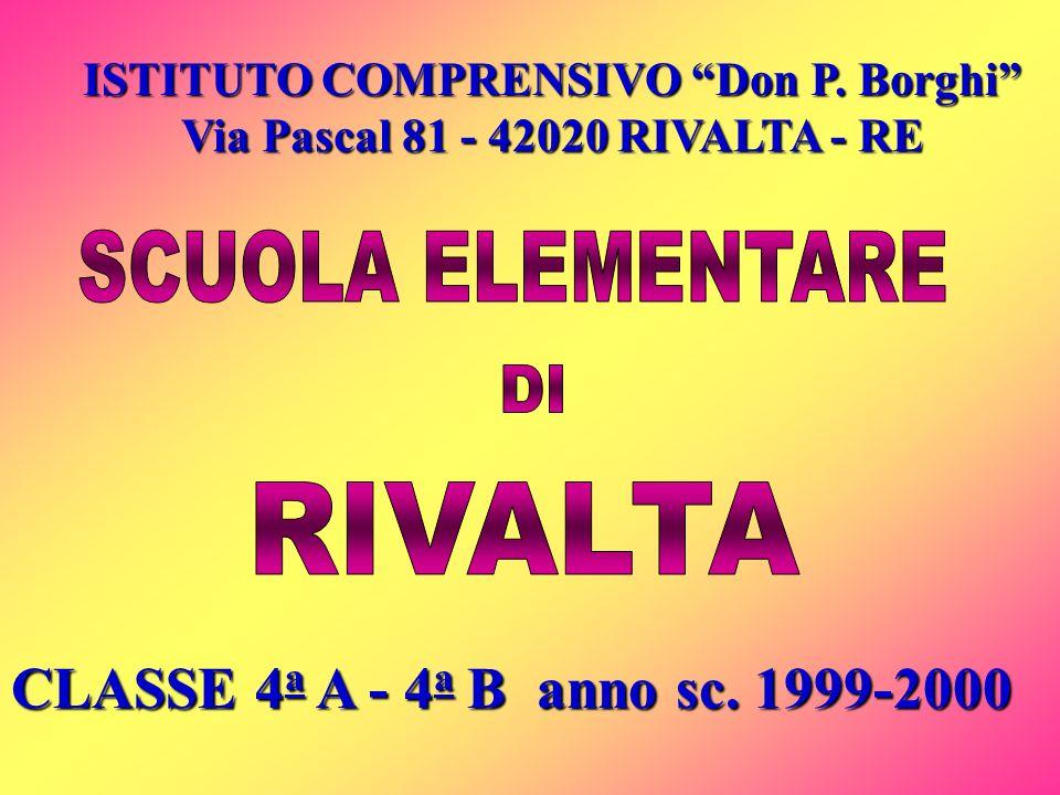 ISTITUTO COMPRENSIVO Don P.Borghi Via Pascal 81 - 42020 RIVALTA - RE CLASSE 4 a A - 4 a B anno sc.