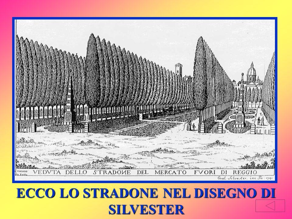 Per dare un accesso di maggiore decoro alla sua Villa di Rivalta, il duca Ercole III, figlio di Carlotta e Francesco, fece costruire un grandioso viale rettilineo da Porta Castello al Ponte sul Crostolo.