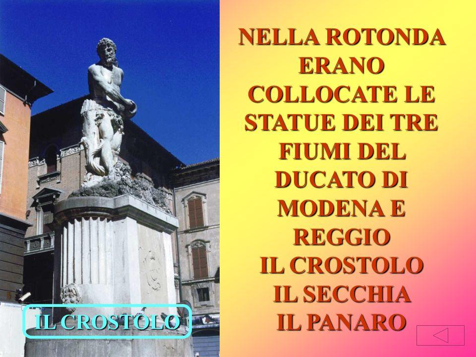 Nel 1791 il duca Ercole III tolse quattro statue marmoree dalla sua Villa di Rivalta per collocarle sul ponte del Crostolo.