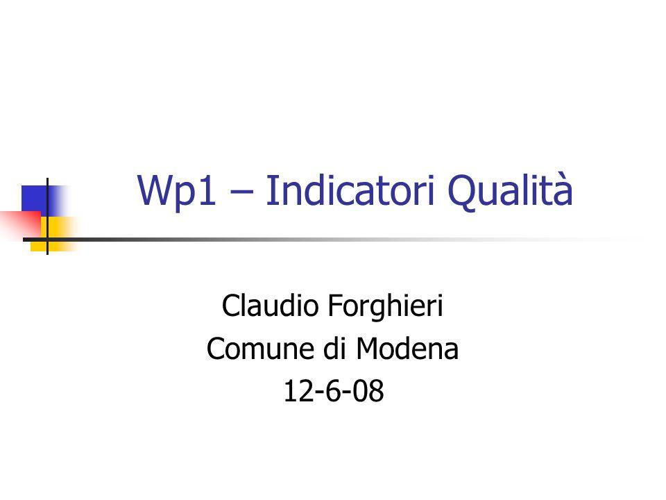 Wp1 – Indicatori Qualità Claudio Forghieri Comune di Modena 12-6-08