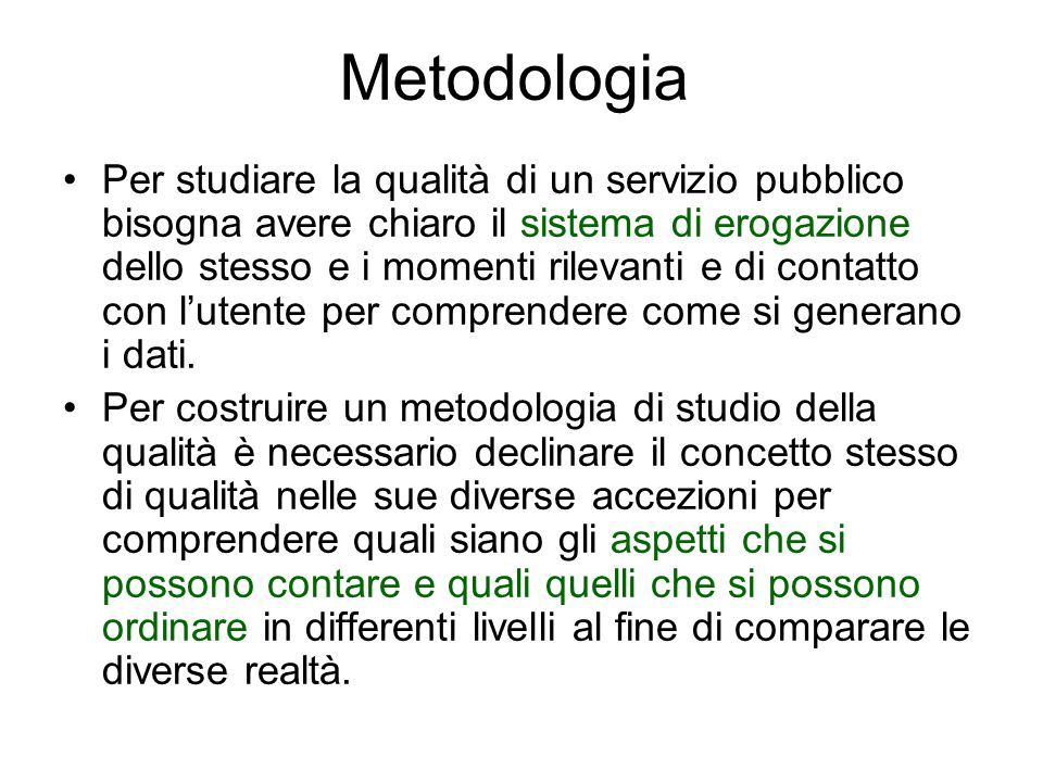 Metodologia Da qui due WP.