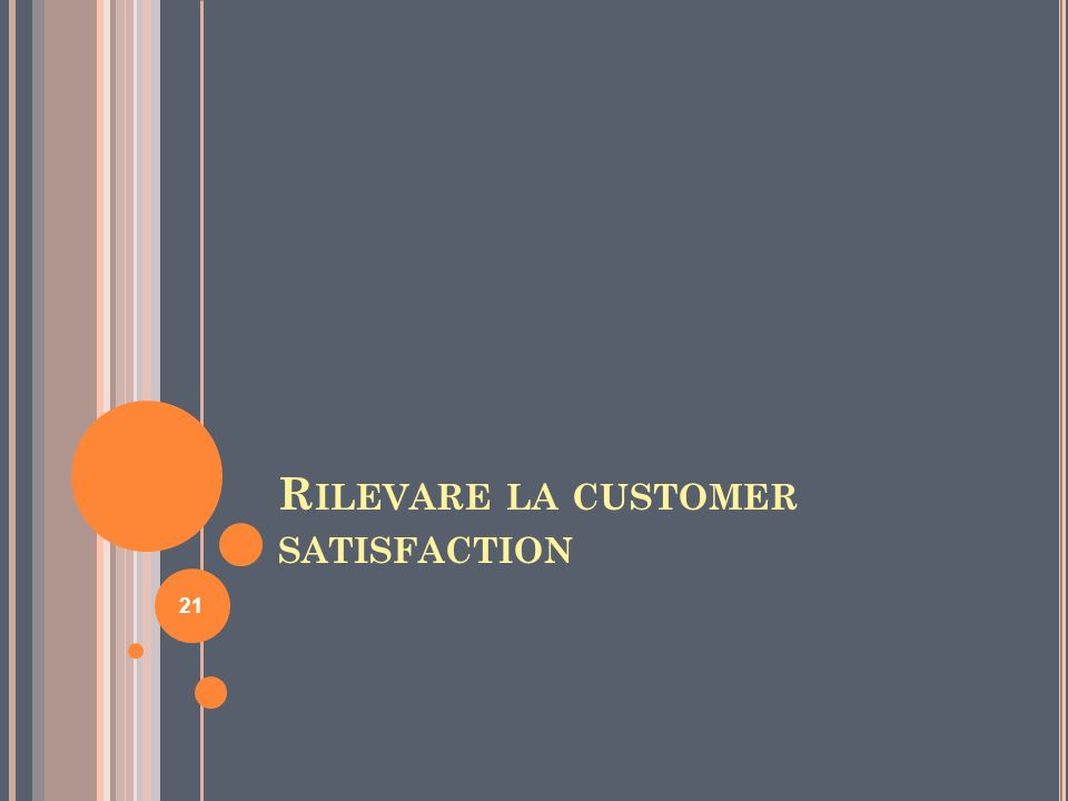 R ILEVARE LA CUSTOMER SATISFACTION 21