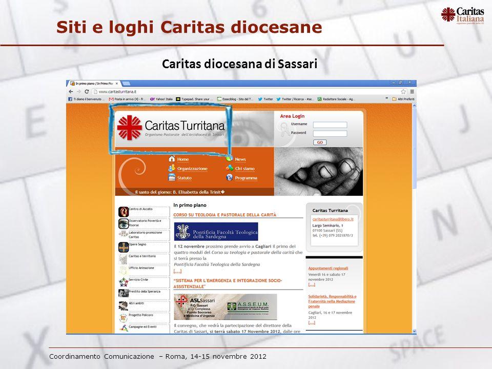 Coordinamento Comunicazione – Roma, 14-15 novembre 2012 Siti e loghi Caritas diocesane Caritas diocesana di Agrigento