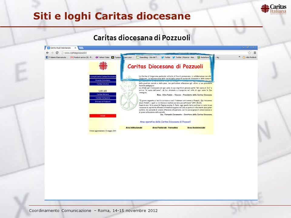 Coordinamento Comunicazione – Roma, 14-15 novembre 2012 Siti e loghi Caritas diocesane Caritas diocesana di Milano